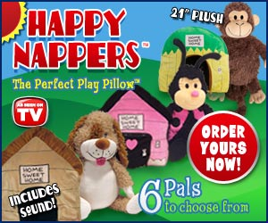 happy nappers play pillow