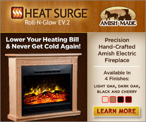 heat surge amish electric fireplace