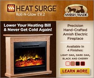 heat surge amish electric fireplace