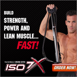 As Seen At TV Presents: ISO7X - Just $29.99 + S&H with FREE Bonus: ISO Arms with additional S&H - Uses Isometrics � The Fastest Way to Build Strength, Power and Lean Muscle...Fast! The New 7 Second Workout Revolution!. Available here on http://www.AsSeenAtTV.com!