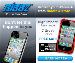 As Seen At TV Presents: Ribbz - Only $29.99 + S&H. - Protective Case Shields Your iPhone 4 From Shocks and Drops. Available here on http://www.AsSeenAtTV.com!