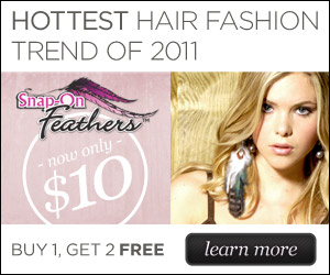 As Seen At TV Presents: Snap On Feathers - Buy 1, Get 2 Free for Only $10 + S&H -  The Hair Craze That's Sweeping the Nation. Features a Non-Slip Clip Specially Designed to Snap on Instantly.. Available here on http://www.ItemsAsSeenOnTV.com!
