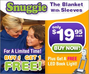 snuggie blanket: buy 1 get 1 free